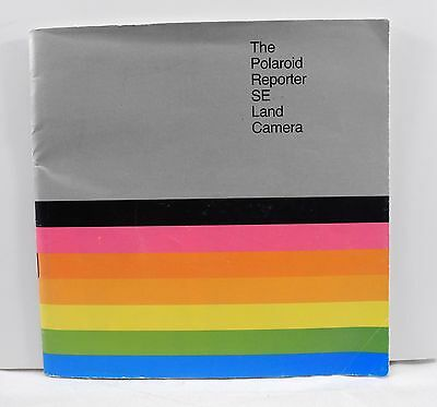 Polaroid Reporter SE Land Camera Owners Manual