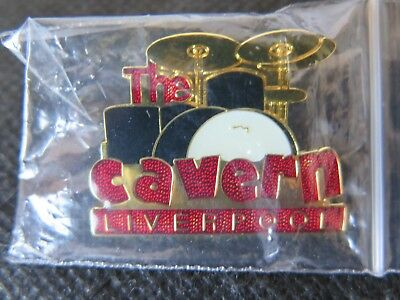THE BEATLES The Cavern Liverpool Drum Set  Pin Badge