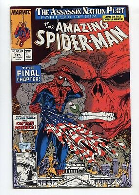 1989 MARVEL AMAZING SPIDER-MAN #325 RED SKULL TODD McFARLANE COVER NM+ 9.6