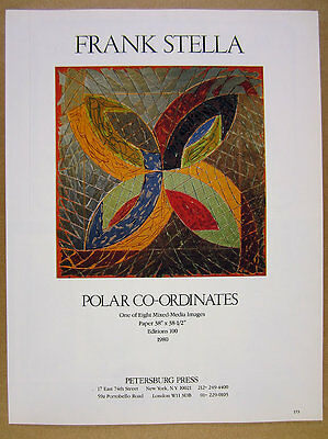 1980 Frank Stella Polar Co-Ordinates mixed-media Petersburg Press vintage Ad