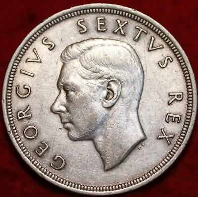 1949 South Africa 5 Shillings Silver Foreign Coin