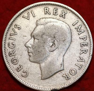 1940 South Africa 2 1/2 Shillings Silver Foreign Coin