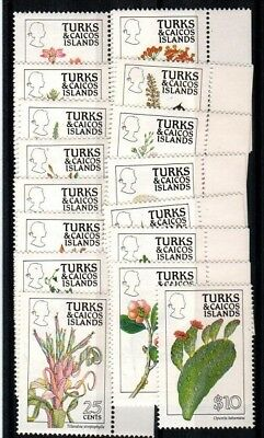 Turks and Caicos Scott 790-805 Mint NH (Catalog Value )