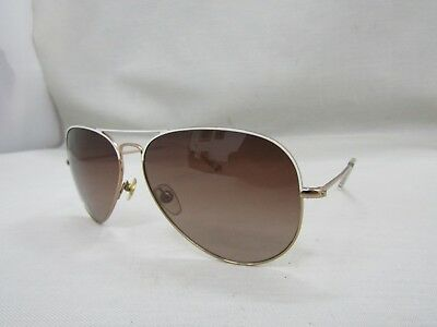 53b878723633f MICHAEL KORS KENNEDY Women s White   Gold Aviator Sunglasses M2056S -   24.00