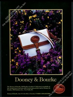 1992 Dooney & Bourke handbag purse color photo vintage print ad
