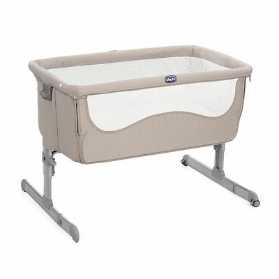 Lenzuola Per Culla Next 2 Me.Chicco Set Per Culla Next 2 Me 2 Lenzuola Con Angoli Light Grey