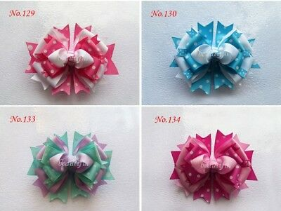 50 BLESSING Happy Girl Costume Boutique 4.5 Inch Fairy Hair Bows Clip