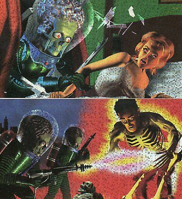 Mars Attacks! Widevision - Lot of 2 different Destruc-O-Rama Chase Cards EXC