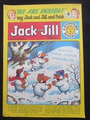 JACK & JILL COMIC 6 January 1979 Birthday Gift The Wombles Tiger Tim VINTAGE