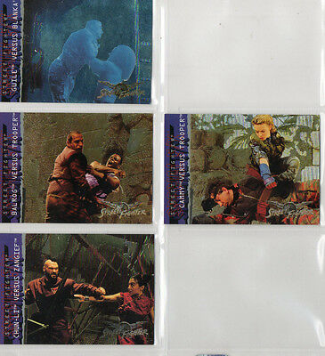 Street Fighter Movie - Lot Of 4 Different Special F/X Chase Cards NM Upper Deck