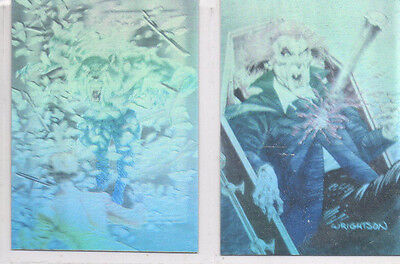Bernie Wrightson Master Macabre - Lot Of 2 Different Hologram Chase Cards NM FPG