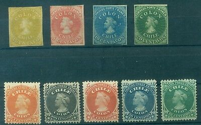 Chile  Excellent Selection, Clasics, Mint Mh + Mng (6 Photos)
