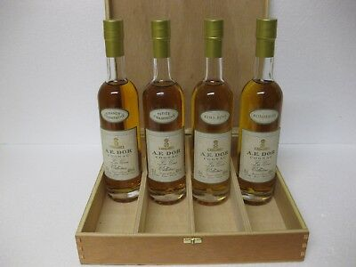 A.E. DOR Cognac Les Crus Collection  4x 0,2 ltr. versch. Sorten in Holzbox neu