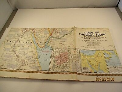 National Geographic Society 1967 Lands of the Bible Today Map #4