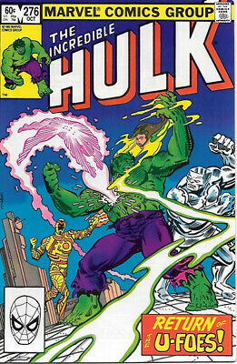 The Incredible Hulk Comic Book #276 Marvel 1982 VERY FINE