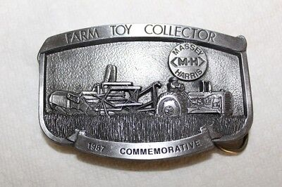 New 1987 Toy Farmer Commemorative Belt Buckle Massey Harris 44 Ser # 439 of 500