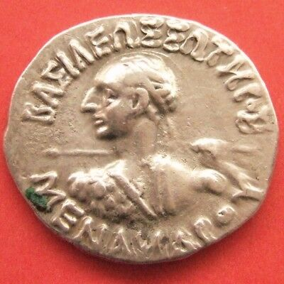 Kings of Bactria. Menander I Soter (155-130 BC). AR Drachm.