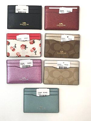 Coach Credit Card Case Id Case Nwt  Assortment Of Styles To Choose $65