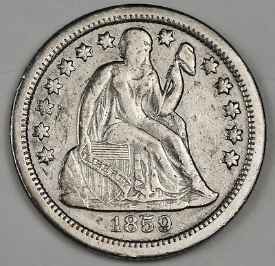 1859-s Seated Liberty Dime.  X.F.  123689