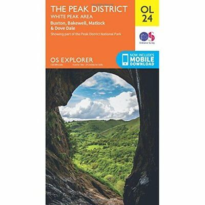 OS Explorer OL24 The Peak District (OS Explorer Map) - Map NEW Survey, Ordnanc 2