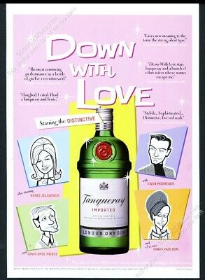 2003 Tanqueray Gin Down With Love movie tie-in vintage print ad