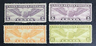 CKStamps: US Air Mail Stamps Collection Scott#C12 C16 C17 C19 (4) Mint NH OG
