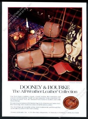 1986 Dooney & Bourke purse handbag 3 bag color photo vintage print ad