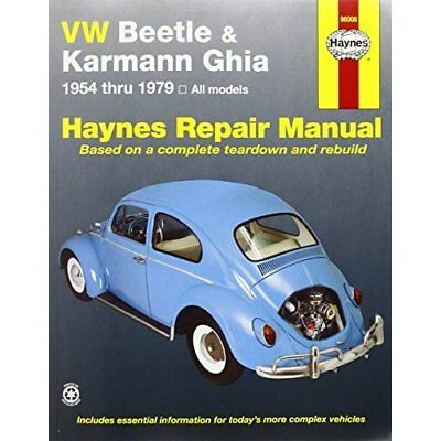 VW Beetle and Karmann Ghia (1954-79) Automotive Repair  - Paperback NEW Freund,