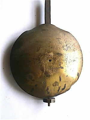 1780 GOOD LONGCASE GRANDFATHER CLOCK PENDULUM  4+1/2 INCH brass faced bob + SLI