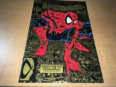 Spider-Man Todd McFarlane Marvel Comic Book #1 2nd Print Gold Cover Not Mint FG