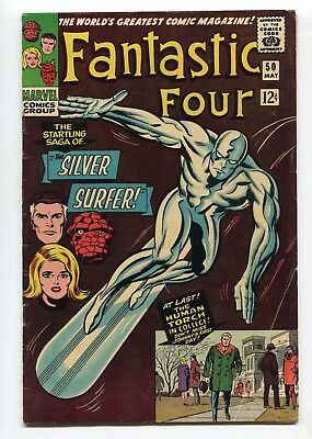 1966 Marvel Fantastic Four #50 Jack Kirby Silver Surfer Cover Solid Mid Grade
