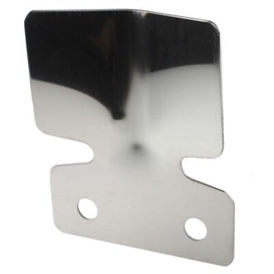 Maypole 4645b Bk Stainless Steel Bumper Protector Plate, Small - Plate S