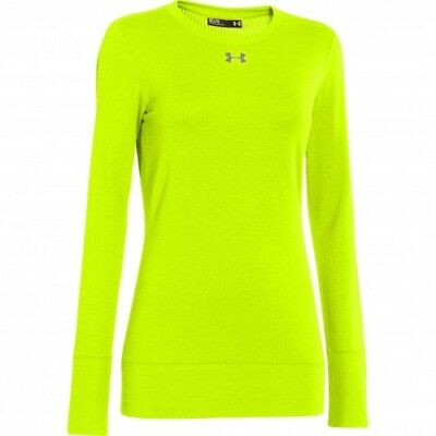 Under Armour Infrared ColdGear Crew - Women's - His-Vis Yellow - M - 1259042-731