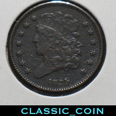 1835 Classic Head Half Cent Nice Metal Detector Find 183 Years Old Free S/h