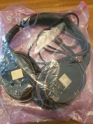 Emirates Business Class Over Ear Noise Cancelling 3-Pin Kopfhörer Headphones OVP