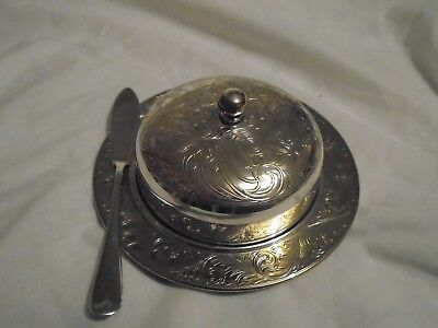 Vintage Silver Plated Dome Butter Dish