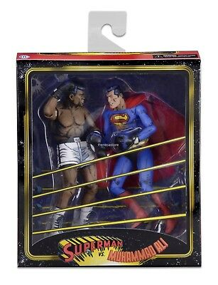 "NECA - Superman vs Muhammad Ali - 7"" Scale Action Figure - 2 Pack"