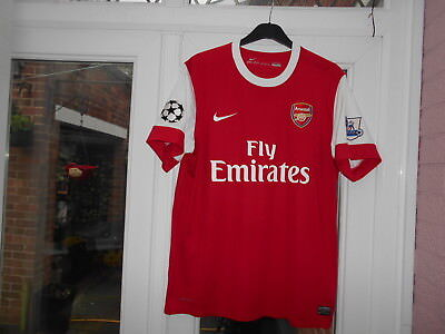 2010-2011 Arsenal Champions League Home Shirt.extra Large Adult.nike.mint Cond.