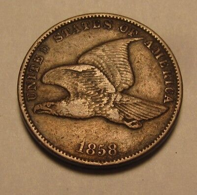 1858 Small Letters Flying Eagle Cent Penny - Very Fine Condition - 61SU