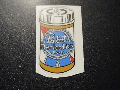 PABST BLUE RIBBON PBR ART Medication STICKER decal craft beer brewery brewing