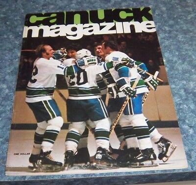 Vancouver Canucks Game Program  March 23 1975 vs St. Louis Blues