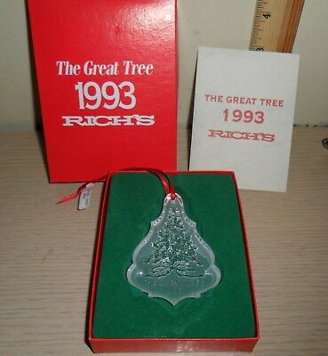 Rich's Depart Store Lead Crystal Ornament with Box ~ The Great Tree 1993
