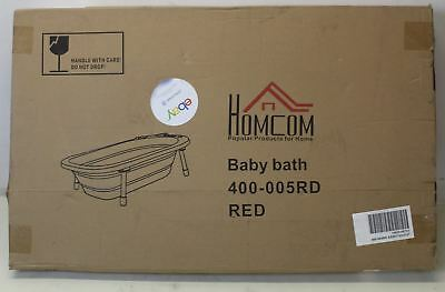 BNIB HOMCOM collapsible 30L Baby Bath Foldable Toddler Shower Wash Tub Pink