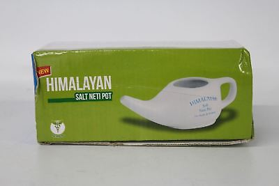 BNIB HIMALAYAN Salt Nasal Wash Detox Sinus Allergies White Ceramic Neti Pot