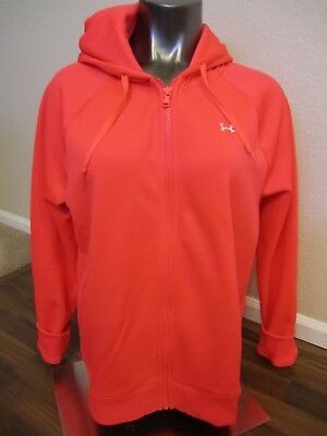 NWOT Under Armour Fleece Jacket XL XLARGE NEW Cold Gear wmn Pink Semi-Fitted