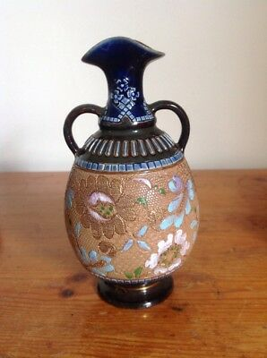 Doulton & Slaters Two-handled Vase - Gilt Stoneware - Height 15cm