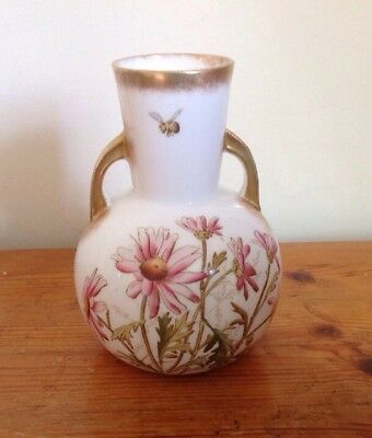 C19th George Jones Vase / Urn ~ Hand Painted Floral Crescent Pottery