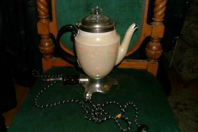 Vintage Royal Rochester 1920s Lusterware Coffee Percolator pot works great! DECO