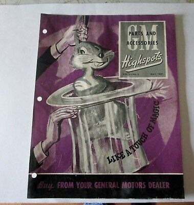 Scarce May 1947 Gm Highspots General Motors Of Canada Parts Brochure  Original