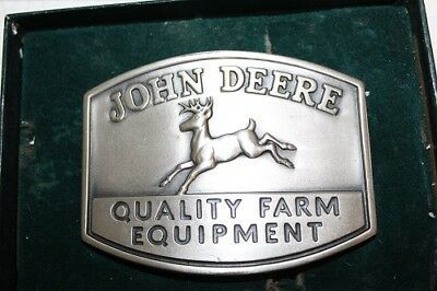 NEW Genuine John Deere 1950 Trademark Belt Buckle 1985 QUALITY FARM EQUIPMENT